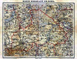 Historyczna mapa Powiatu Prudnickiego